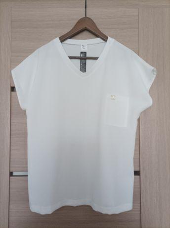 Biała elegancka bluzka rozmiar 44