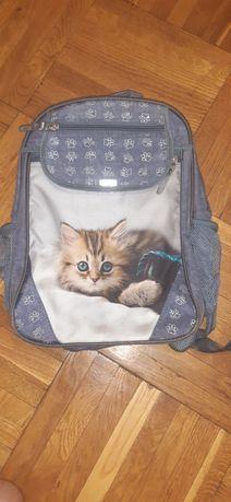 Рюкзак школьный Bagland Отличник 20 л. Серый (котенок светлый) (005807