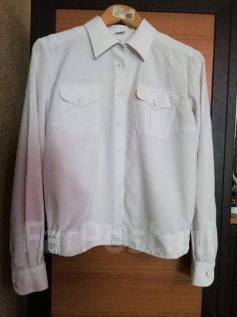 Рубашки форменные белые синие зелёные морские железнодорожника охраны