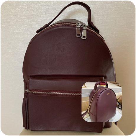 Рюкзак из натуральной кожи ( furla)