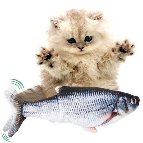 Игрушка для кота вибрирующая живая рыба