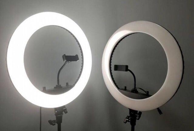 Кольцевая LED лампа HQ-18 45см со штативом