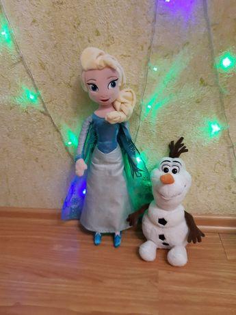 Кукла игрушка Эльза 50см Олаф Холодное сердце Дисней Frozen Disney