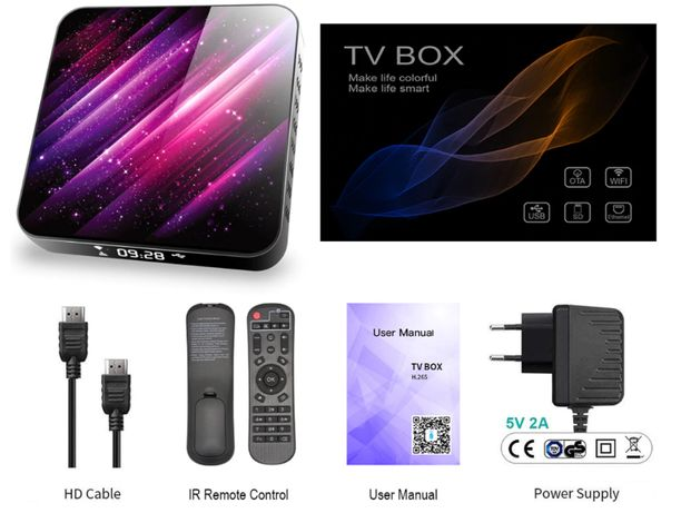 TOPSION TP03 Android TV Box 10,0 4 Гб 32 Гб 6K H.265 медиаплеер 3D вид