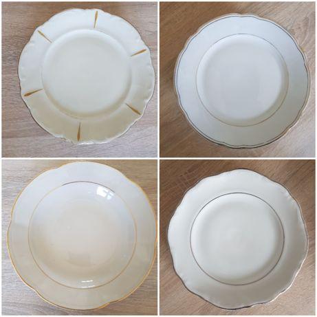 Stare talerze głębokie i małe płytkie różne wzory