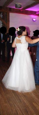 Suknia ślubna w rozmiarze 42 + Masa dodatków. Super styl! Okazja!