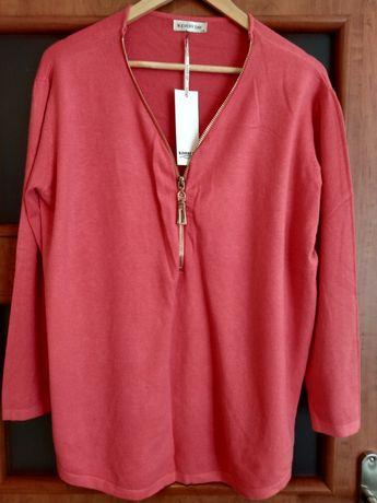Sweter w odcieniu różu