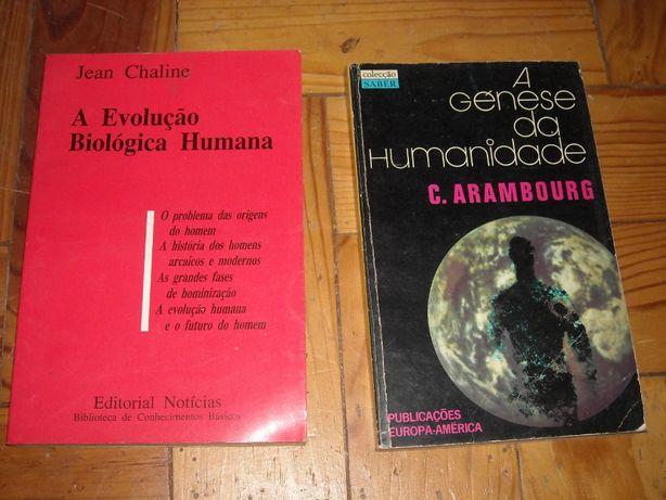 Livros sobre evolucao / origem da humanidade