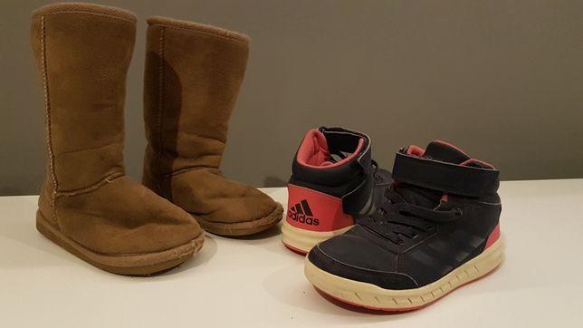 Buty dziecięce a la Emu r.29 oraz Adidas r.30