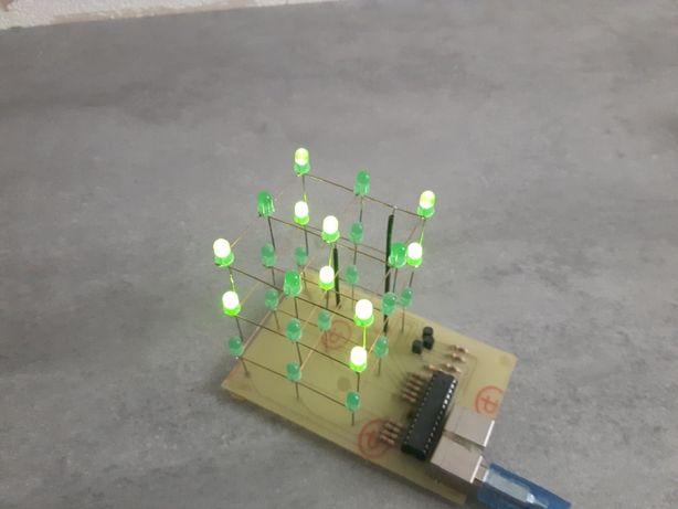 Kostka LED sześcian ledcube led cube 3x3x3 dekoracja ozdoba świetlna