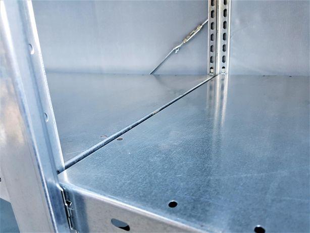 REGAŁ 54x200x400/15p OCYNKOWANY Metalowy Magazynowy Garażowy -B.MOCNY