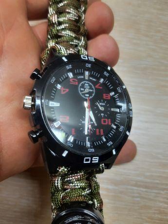 Zegarek, surwiwalowy, męski, damski wodoodporny, kompas, biwak namiot