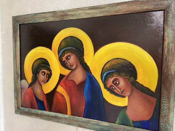 Святая троица, размер 40х60 см