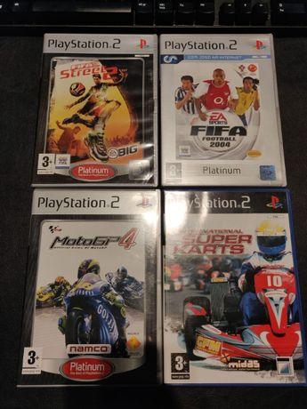 Jogos PS2 - Fifa 2004/MotoGP4/Fifa Street 2/International Super Karts
