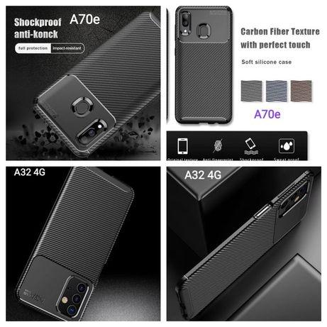 Capa T/ Fibra Carbono Samsung A32 4G / A70e / J6 2018 -Nova-24h