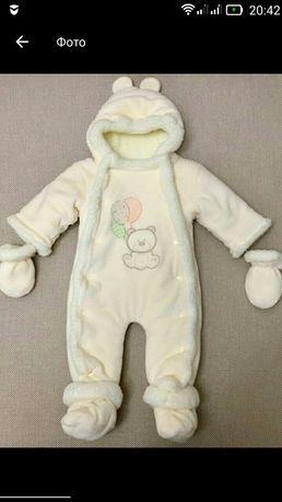 Демисезонный комбинезон для новорожденных 0-3,3-6,62