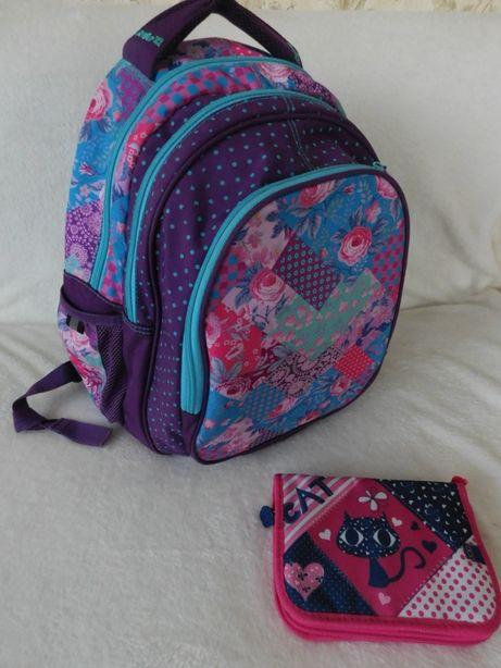 Рюкзак школьный Kite 801 Take'n'Go-5 для девочки + пенал Zibi