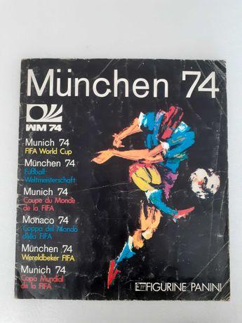 Caderneta de cromos de futebol Panini Munchen 74