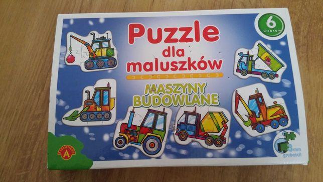 Puzzle dla maluszków maszyny budowlane  zabawka zabawki
