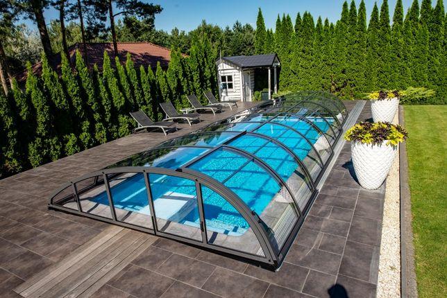 Pokrycia basenów, zadaszenia basenowe, do basenów z montażem Bucovers