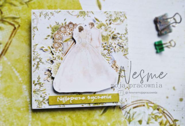 Kartka śluna, kartka na ślub, kartka ręcznie robiona