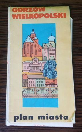 Plan miasta Gorzów Wielkopolski * trzecie wydanie * 1987