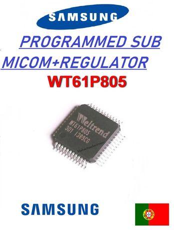 TV  LCD SAMSUNG UE32EH4000W  WT61P805  REG 3V sub micro programado
