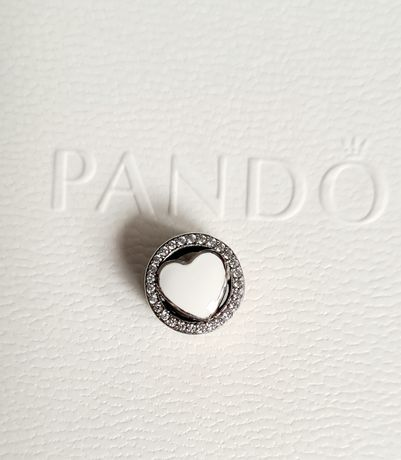 Charms białe serce srebro próba 925 do Pandora,Apart,Yes