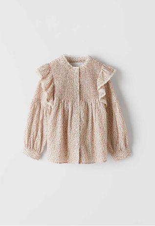 Блузка рубашка zara 7-8-9 лет в школу