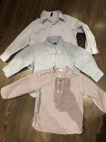 Рубашка next, Zara 1,5-2 года