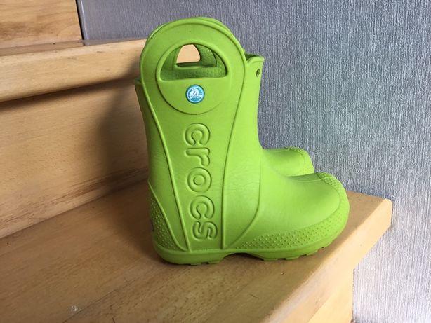 Crocs c8 сапоги гумаки сапожки
