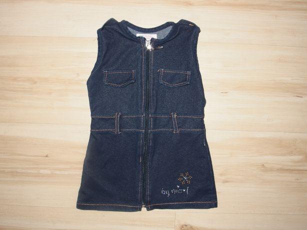 H&M sukienka dziewczęca tunika a'la jeans ogrodniczka 86 18 M 1,5