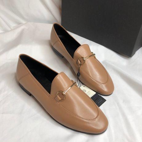 Крутые туфли лоферы Massimo Dutti