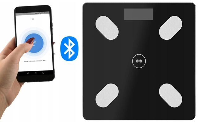 Inteligentna waga łazienkowa BLUETOOTH analityczna z aplikacją