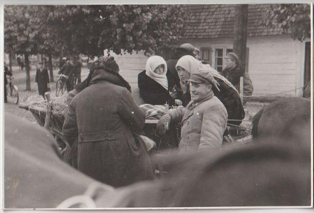 Stare zdjęcie Wehrmacht targ Suwałki 1939
