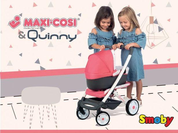БЕСПЛ ДОС Коляска для куклы 3 в 1 Maxi-Cosi Quinny Smoby 253198