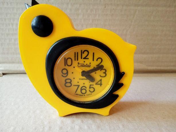 Часы будильник Слава цыпленок