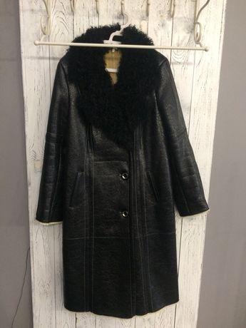 Дубльонка пальто тепле зимове