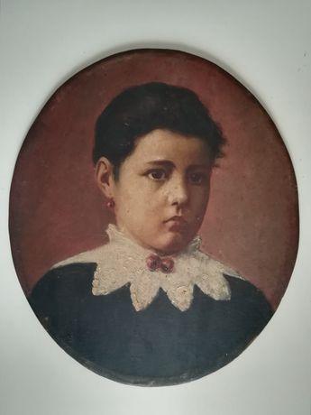 Quadro Óleo s/Madeira António Molarinho Séc. XIX