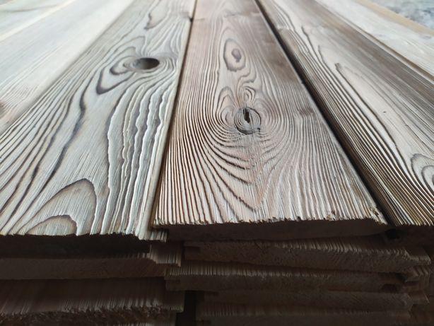 Deska opalana szczotkowana szalòwka podbitka deska podłogowa