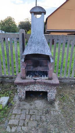 Grill kominek betonowy