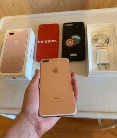 Iphone 7 Plus Rose Gold 32Gb/ Отличное состояние 10/10/Официал/Зарядка