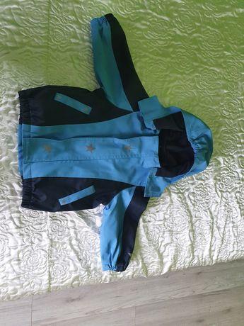 Komplet Tchibo przeciwdeszczowy, kombinezon, kurtka, spodnie 74-80