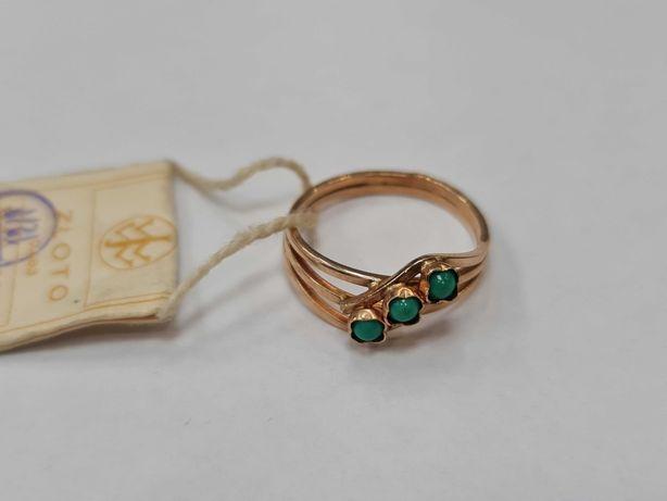 Warmet! Złoty pierścionek damski/ 585/ 2.45 gram/ R13/ II poł XX wieku