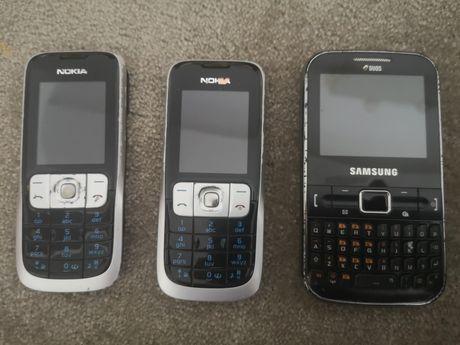 Telemóvel Samsung e Nokia e capas