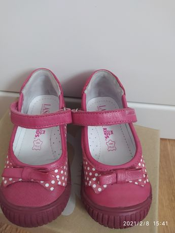 Buty różowe Lasocki Kids 21 kropki półbuty trzewiki wiosna skóra