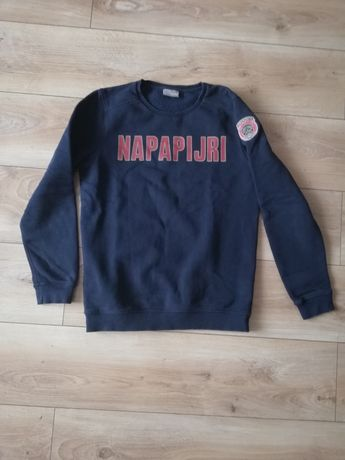 Bluza granatowa markowa Napapijri chłopięca młodzieżowa 162 cm spodnie