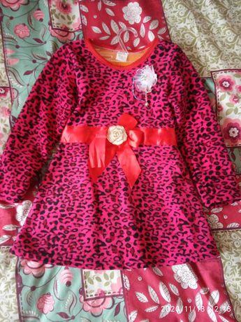 Платье тёплое на девочку 2-3 лет