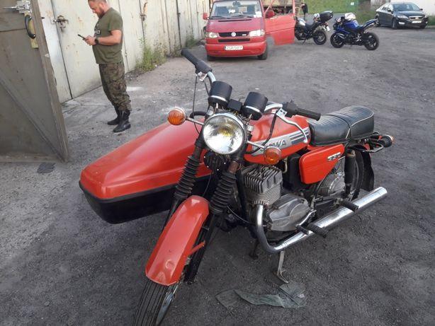 Jawa 350 lux z wózkiem boczny velorex