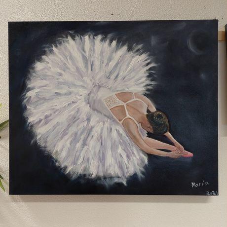 Quadro  a óleo bailarina